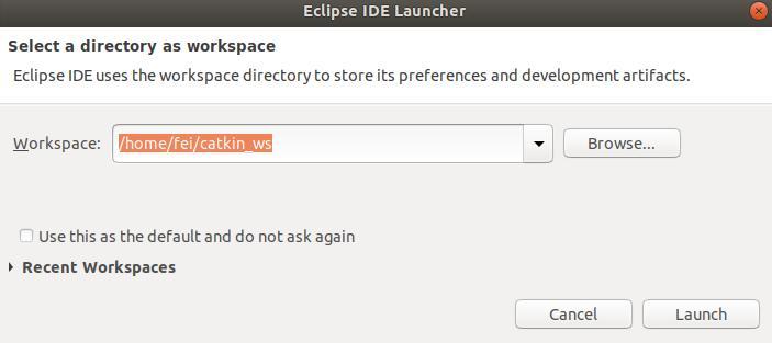 eclipse 搭建 ROS 工作空间